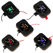 OOTDTY DC 12-24V Waterproof Car Boat Motorcycle LED Voltmeter Digital Display Volt Voltage Meter Gauge Durable Quality