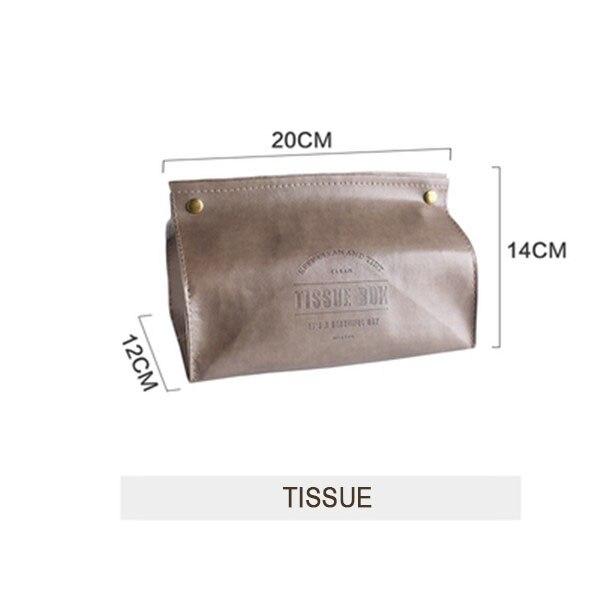 Креативная коробка для салфеток из искусственной кожи, мягкая складная подставка для салфеток, чехол для салфеток с буквенным принтом, держатель для бумаги для дома, кухни, коробка для хранения - Цвет: Style 4