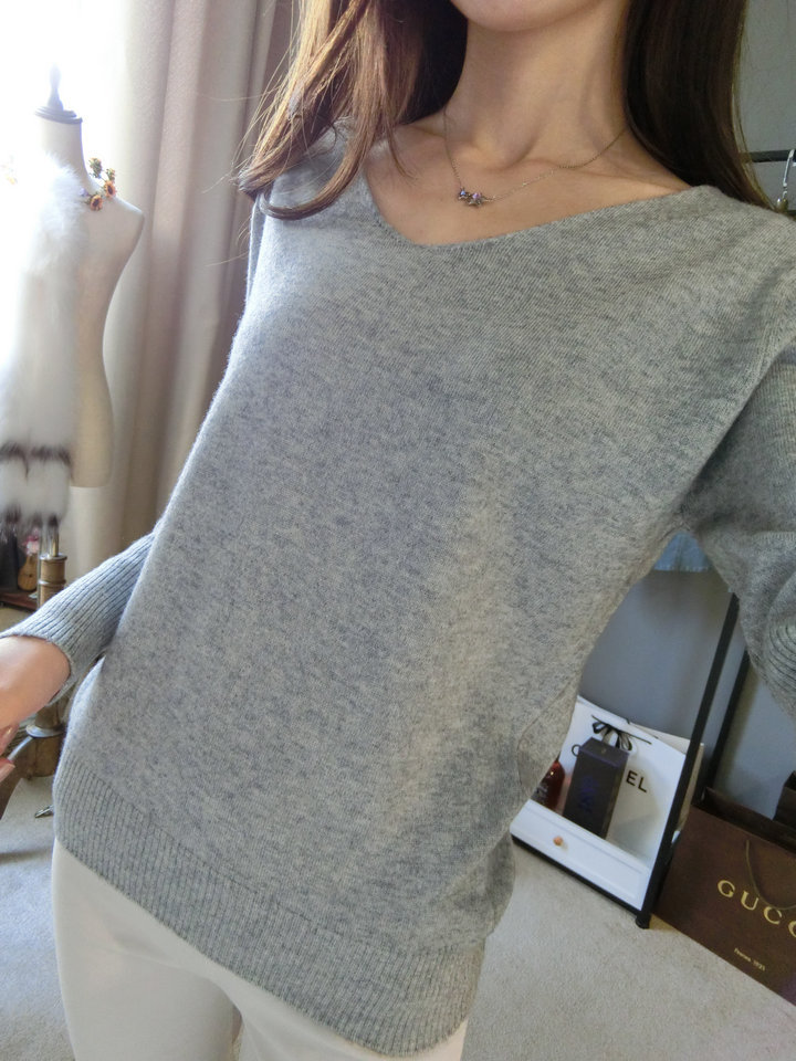 LOWEST-PRICE-Fashion-Women-s-Pullover-Sweater-Lady-V-neck-Batwing-Sleeve-Cashmere-Wool-Knitted-Solid (2)