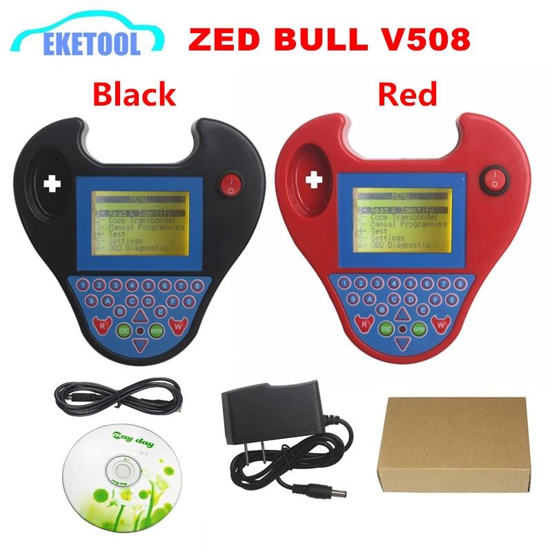 Best Newest Version V508 MINI Zed Bull Key Programming Immobilizer Fast Speed Super MINI Zed-Bull ZedBull Copy Chips 2 Colors