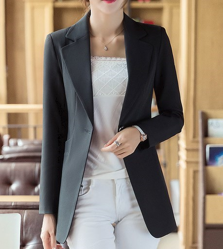 Blazers Back To Search Resultswomen's Clothing Women Office Work Black Blue Pink Red Blazer Plus Size Womens Slim Fit Blazer Long Sleeve Business Casual Suit Jacket 4xl Quality And Quantity Assured