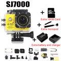 Câmera ação Wi-fi 2.0 LEVOU 4X Zoom Mini gravador cam ir marinha mergulho 1080 P HD DV Pro estilo + monopé + cartão de memória + saco