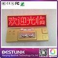 golden frame red color rechargeable led name badge led advertising screen led name tag diy kits program mini led sign