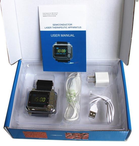 Новый CE физиотерапия здравоохранения 650nm лазерный свет/запястье диод Низкий уровень лазерная терапия для диабет лечение гипертонии