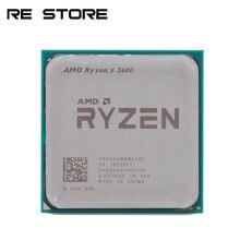 Usado amd ryzen 5 2600 r5 2600 3.4ghz seis núcleo doze núcleo 65w processador central yd2600bbm6iaf soquete am4