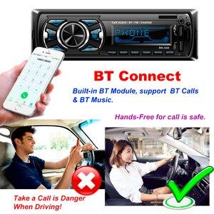 Image 2 - Hikity 1 din Car radio 12V Bluetooth AUX autoradio fm transmitter auto radio In Dash 1din with free remote control car Stereo