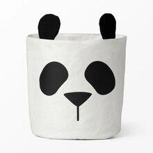 30 * 40CM Panas Cute Panda Penyimpanan Binatang Binatang Bayi Mainan Pakaian Kanvas Binatu Laundry Organizer Stand Dekorasi Kamar