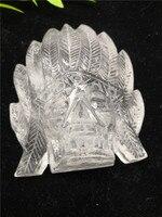 Красивые! 535 GNATURAL ручной работы белый кристалл череп фэн шуй драгоценный камень домашний декор