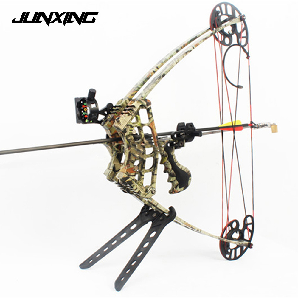 M109 50 LBS Triangle Hunting Compound Bow for Left Hand And Right Hand Archery Speed 270 feet/s Black/Camo Compound Bow 20 pounds m110 compound bow wih black camo color high strength aluminum handle and glass fiber bow limbs for children games