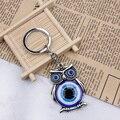 Blue Evil Eye Owl Lucky Charm Protection Tassel Hanger Crystals Car Feng Shui Keychain
