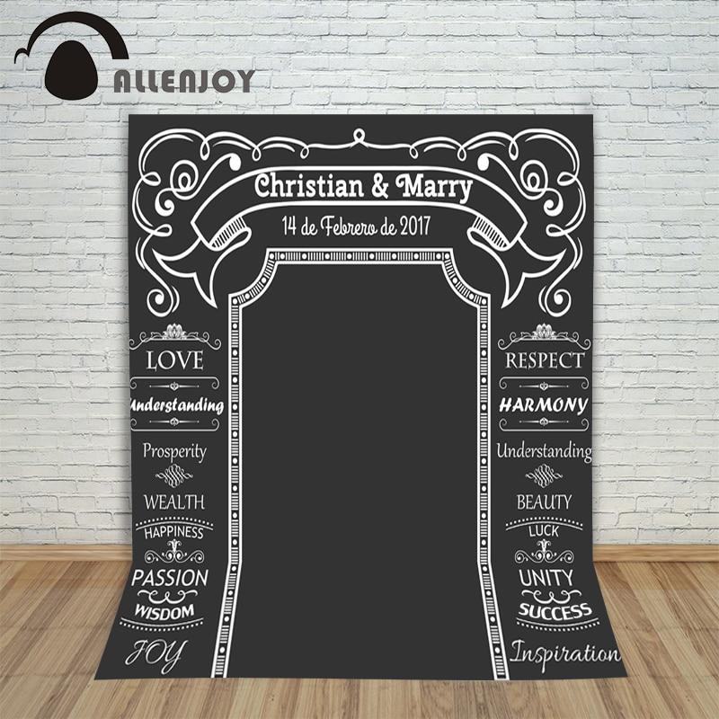 Allenjoy DIY Casamento Fundo Idéia Chalk Archway backdrop quadro - Câmera e foto