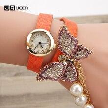High Model Quartz Watches Girls Bracelet Diamond Butterfly Pendant Wristwatch Lengthy Chain Laps Twist Clock Relogio Feminino