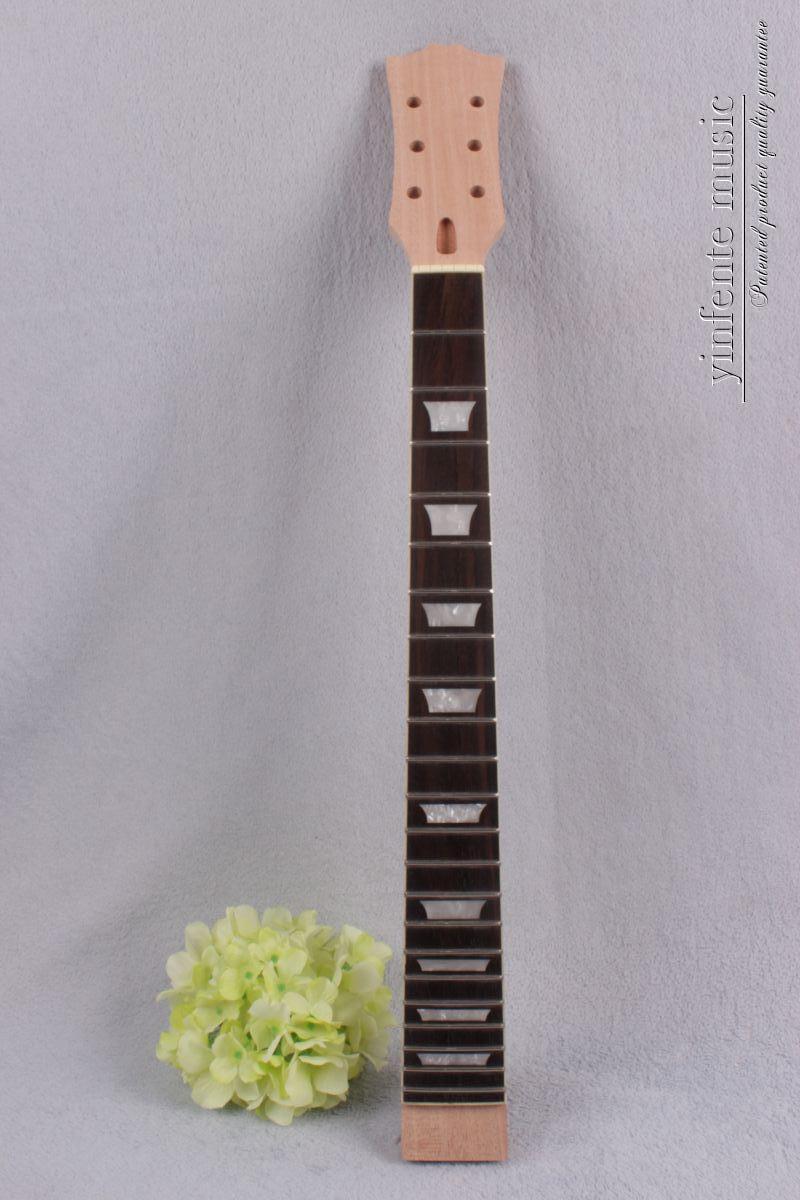 Electric Guitar Neck Solid Wood 22 Fret 24.75'' Black Fretboard Truss Rod #726