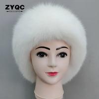 Men Bomber Hat 100% Real Fox Fur Hat Mens Winter Hats Ear Flaps Russian Men Genuine Silver Fox Fur Lei Feng Caps Women Fur Hat