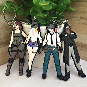 PLAYERUNKNOWN'S BATTLEGROUNDS Cosplay Costume Environmental Protection PVC Keychain Model Props Accessories Anime Game PUBG
