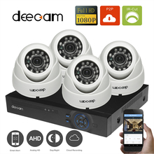 1080P 4CH AHD DVR Safety System 2.0MP Indoor Residence Monitoring CCTV Kits HD IR-CUT Night time Imaginative and prescient Safety Dome Cameras 2000TVL