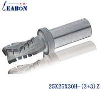 LEABON 25*25*30H (3+3)Z Diamond two flute spiral router bits/ CNC Milling cutter / woodworking bits/end mill for MDF,Plywood