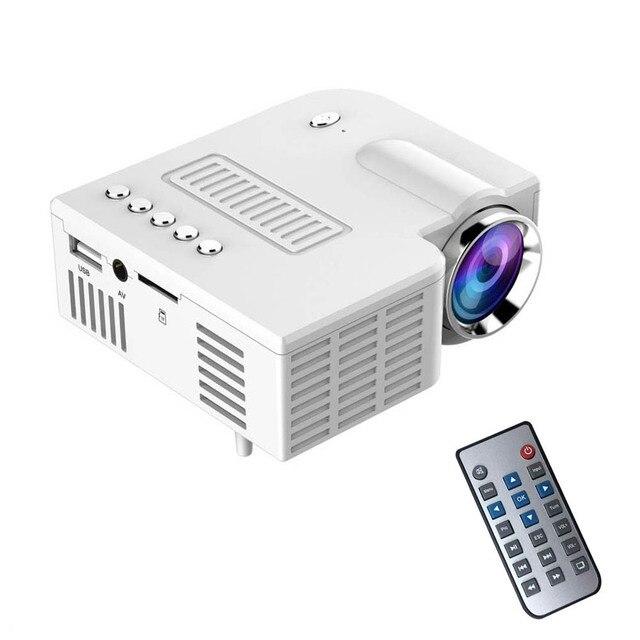 Special Price US Plug LED Projector Home Cinema Theater Portable UC28 PRO HDMI Mini VGA/USB/SD/AV/HDMI  Digital LED LCD Projector