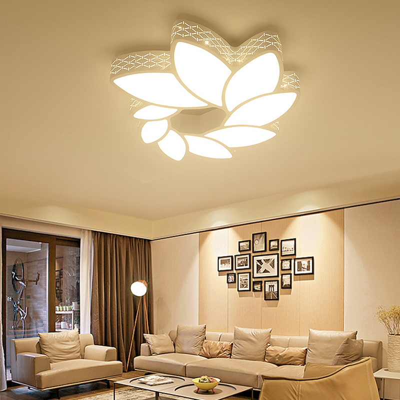 Leaves surround led ceiling lamp eye protection ceiling lights leaves surround led ceiling lamp eye protection ceiling lights stepless dimming ceiling light fixture with remote control in ceiling lights from lights mozeypictures Choice Image