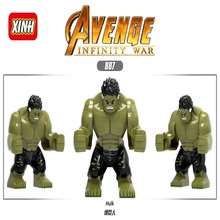 Legoing Mavel Hulk Iron Man Spielzeug Avengers Endgame Super Hero Figuren Mavels Zahlen Bricks Bausteine Kinder Geschenke Citys(China)