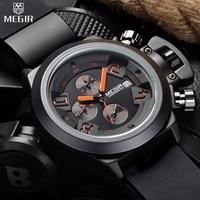 Megir Brand Joker Atmosphere Men Wrist Watch Multi Function Male Business Watch Calendar Led Chronograph Top