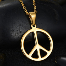Buy necklace world peace and get free shipping on aliexpress anti allergy world peace symbol gold color high end stainless steel pendant fashion choker necklace aloadofball Choice Image