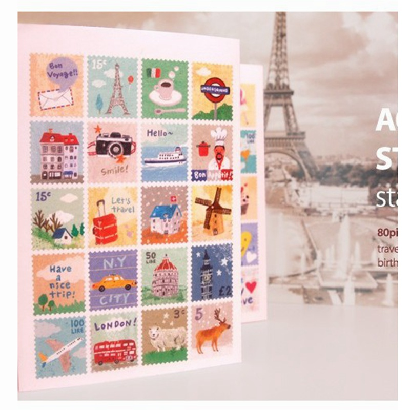 Toys & Hobbies Funny Stamp Laptop Stickers Kids 80pcs/pack Toys For Children Skateboard Stickers For Suitcase Anime Thank You Sticker Animals To Ensure A Like-New Appearance Indefinably Classic Toys