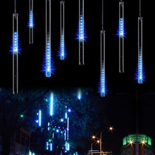 30CM 50CM 110V 230V Meteor Shower Rain Tube Guirlande Led Outdoor Garland Fairy Christmas Tree Festoon Lights Wedding Decoration