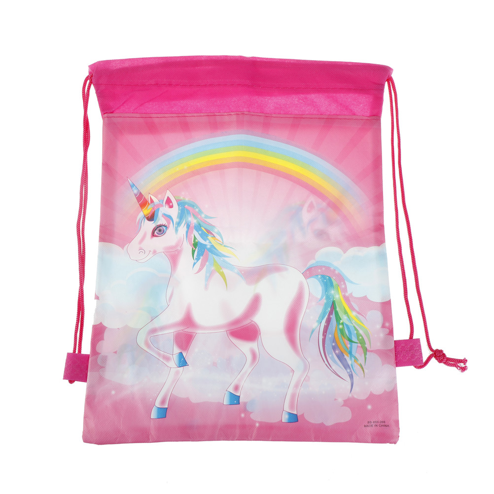 1PCS Cartoon Theme Unicorn String Bags Unicorn Drawstring Bags Unicorn Drawstring Bag Kids Back Bags