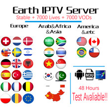 7000 Channels World Global IPTV Europe USA UK Germany Italy Nordic Latin 3/6/12 Month subscription For M3U Mag Android Smart TV(China)
