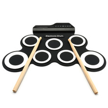 Inno DP-818A Portable Roll Up Electronic Drum with Drum Sticks and Pedal