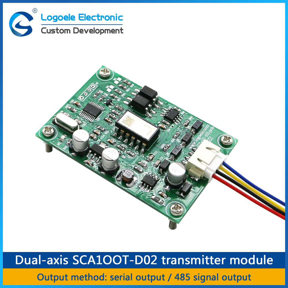 LOGOELE Two-axis tilt sensor module serial output tilt level detection SCA100T-D02 dual axis inclinometer sensor module hmc5883l digital triple axis magnetometer compass sensor module red white