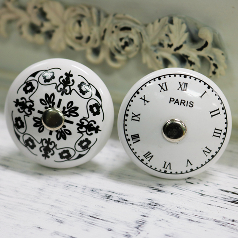 One Piece 38mm French Paris clock Design cabinet knob door handles furniture Dresser drawer handle french workplace design