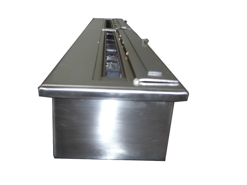 62 Inch Stainless Steel Manual Ethanol Recessed Fireplace