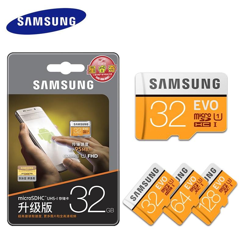 100% SAMSUNG New U3 Micro SD 256GB/128GB/64GB SDXC U1 32GB/16GB SDHC Class10 TF CF Memory Card C10 Microsd Flash Cards Pendrive brand new memory card sdxc 128gb 64gb sdhc 32gb 16gb 8gb micro sd cards tf card class 6 10 memory flash microsd cards for phone