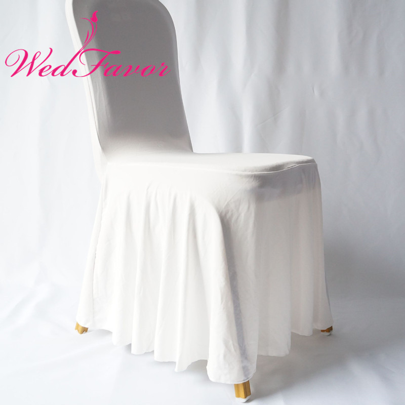 100pcs White Pleated Elastic Stretch Skirting Chair Covers