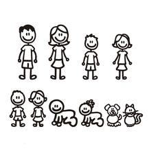 Family Members Personality Reflective Car Sticker Random Color