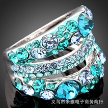 2017 Sale Real Party Wholesale Fashion Jewelry Ring For Women Crystal From Swarovski Imported Zircon Inlay Lover Name Rings(China)