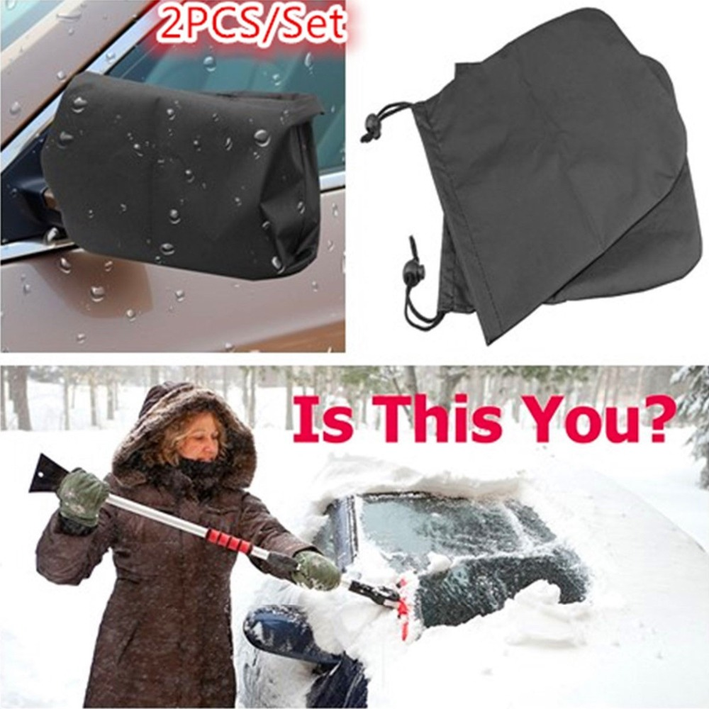 2Pcs Auto Car Rear View Side Mirror Frost Guard Snow Ice Winter Anti Fog Rainproof Waterproof Protector Cover Dropshipping