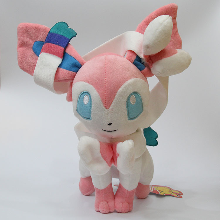 30cm Eevee Plush Sylveon Toys Stuffed Soft Dolls Big Size Doll Kids Gift SA1671 In Movies TV From Hobbies On Aliexpress