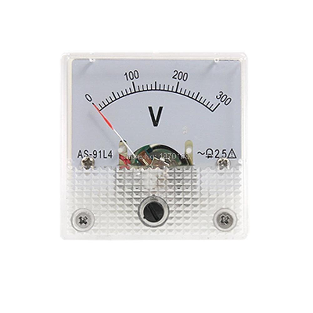 Вольтметр 91L4, 0-300 В переменного тока, аналоговая панель, измеритель напряжения, вольтметр, измеритель переменного тока 0-300 в