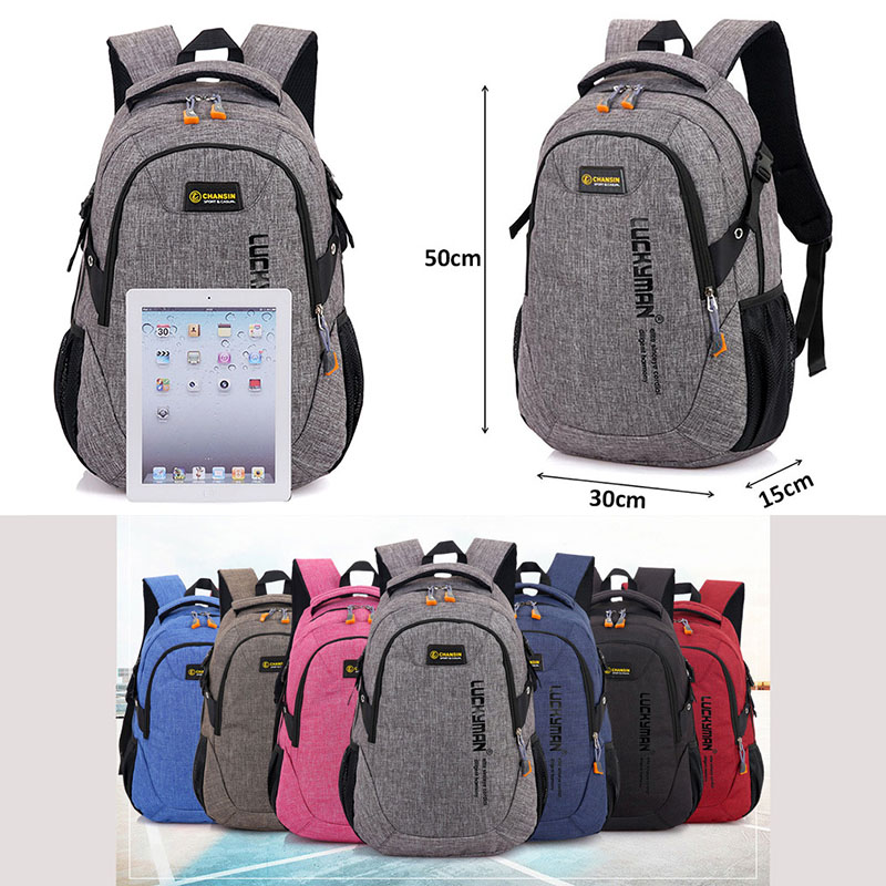 Unisex School Bag Waterproof Nylon Brand New Schoolbag Business Men Women Backpack Polyester Bag Shoulder Bags Computer Packsack #6