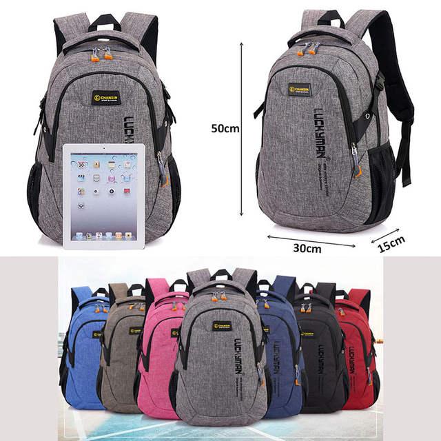 59bc60faf157 Unisex School Bag Waterproof Nylon Brand New Schoolbag Business Men Women  Backpack Polyester Bag Shoulder Bags