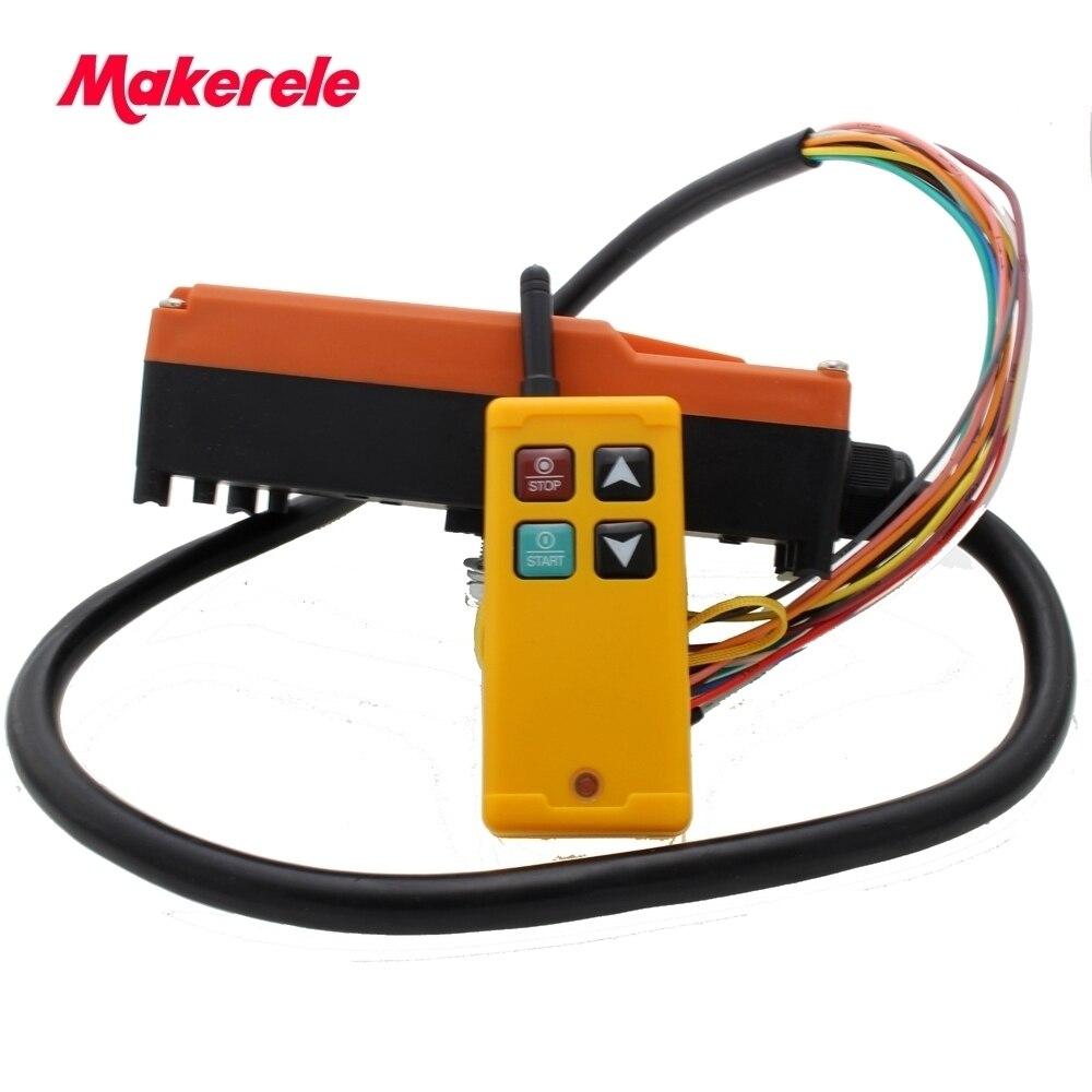 Interruptor de control remoto de Radio inalámbrica Industrial para grúa 1 RECEPTOR + 1 transmisor AC220V 110 V 380 V 36 V DC12V 24 V MKLTS-4