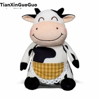 about 32cm cartoon cow plush toy lovely cow soft doll throw pillow birthday gift s1201