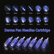 цена на For Dr Pen A6 1 3 5 7 9 12 36 42 pins Nano Needle Cartridge For MYM Derma Pen Auto Microneedling Electric Derma Pen Needles Tips
