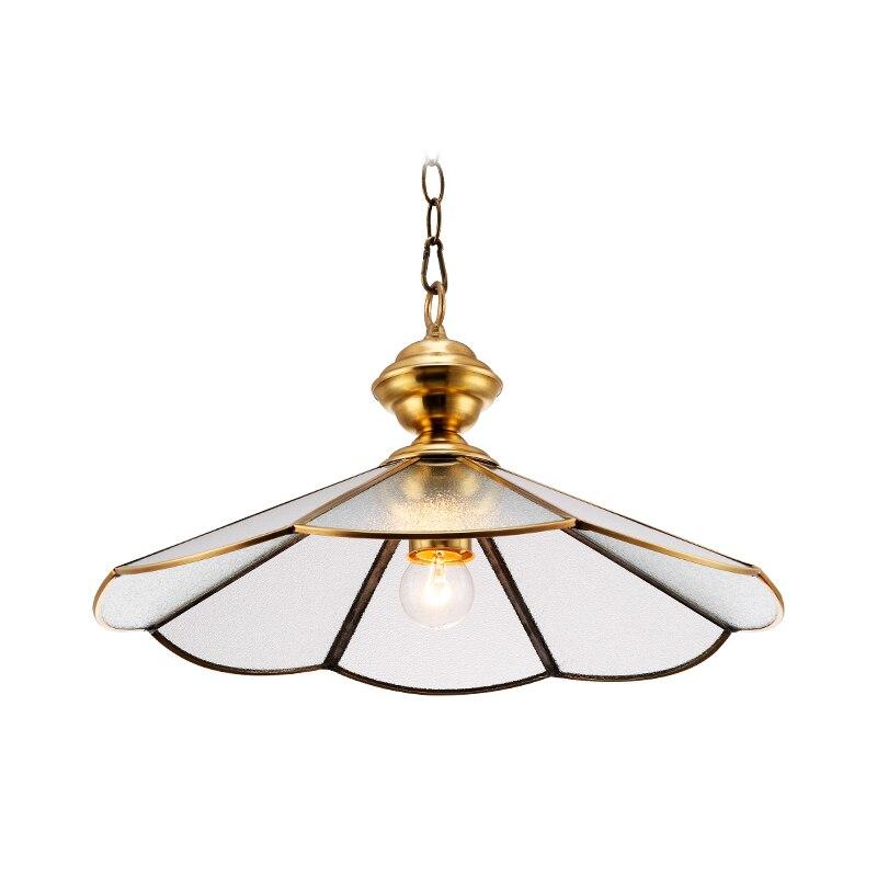 European style Copper pendant Lamp diningroom light traditional hanging drop light E27 lamp Bedroom Restaurant home decoration
