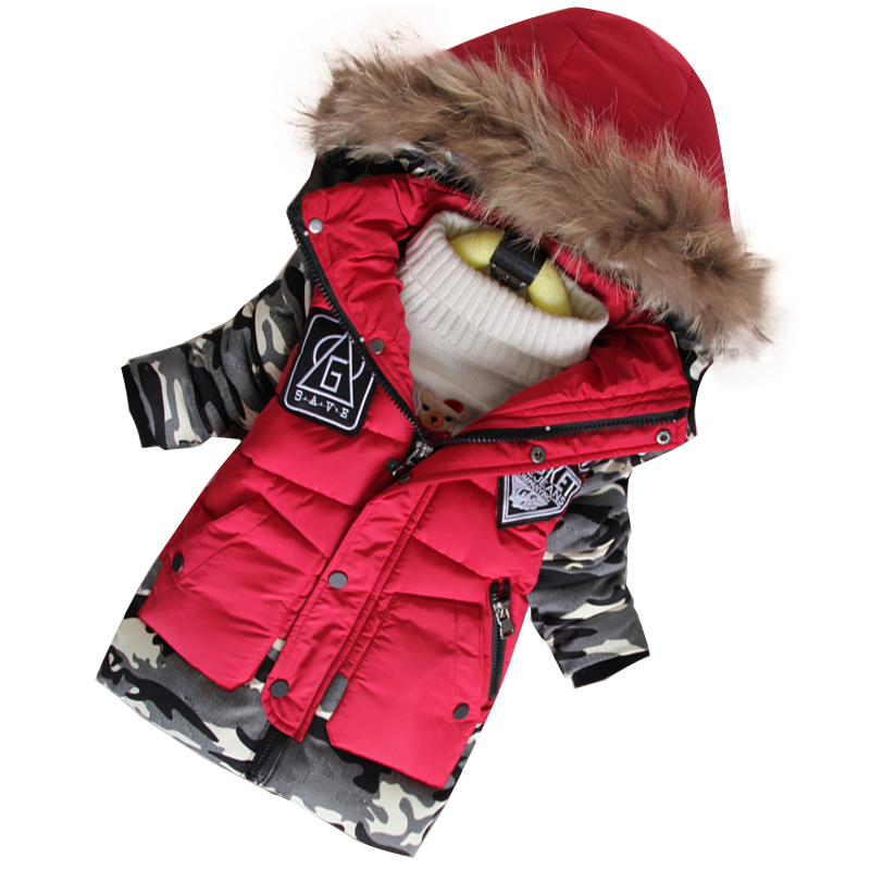 New 2019 Boys Cotton-padded Coats Children Winter Jackets Kids Hooded Coats and Jackets Thicken Warm Outerwear Casaco Infantil