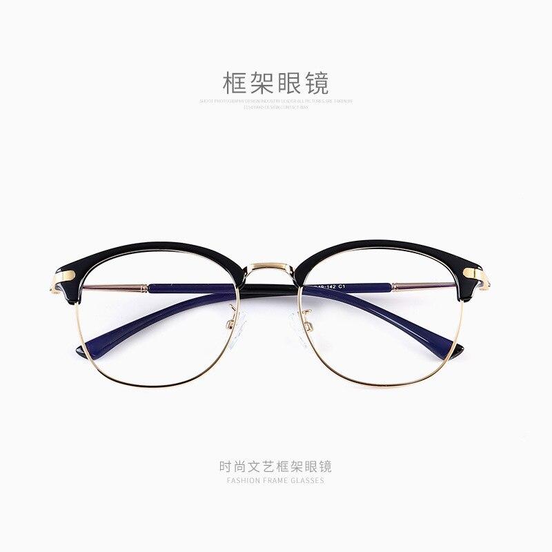Neue gläser männer halb rahmen flache spiegel frauen gläser myopie großen rahmen retro brille XFU1-XFU15