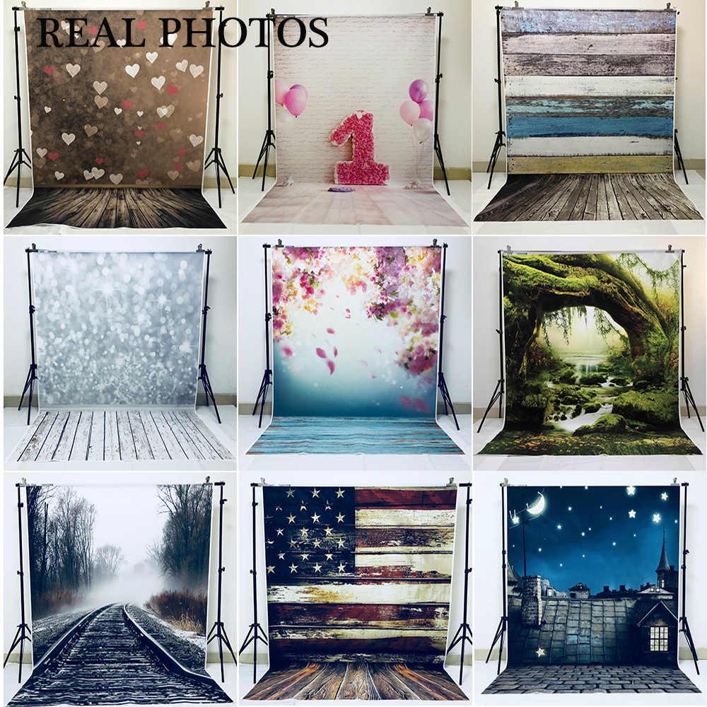 Arrière-plans de photographie murale en bois décors photographiques en vinyle pour Studio de Photo